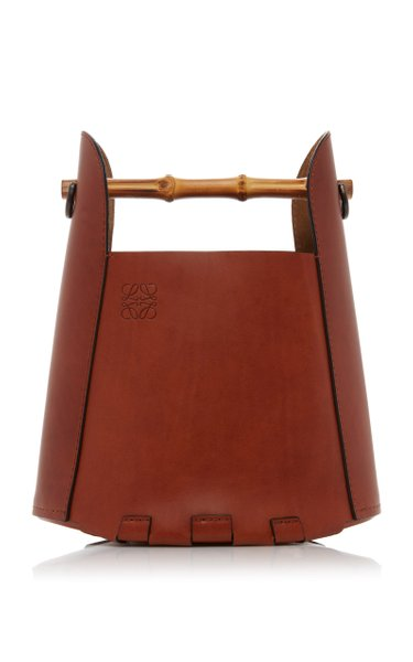 Bamboo Leather Bucket Bag