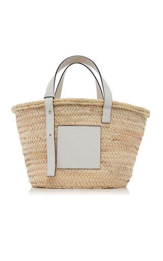 Raffia and Leather Basket Bag