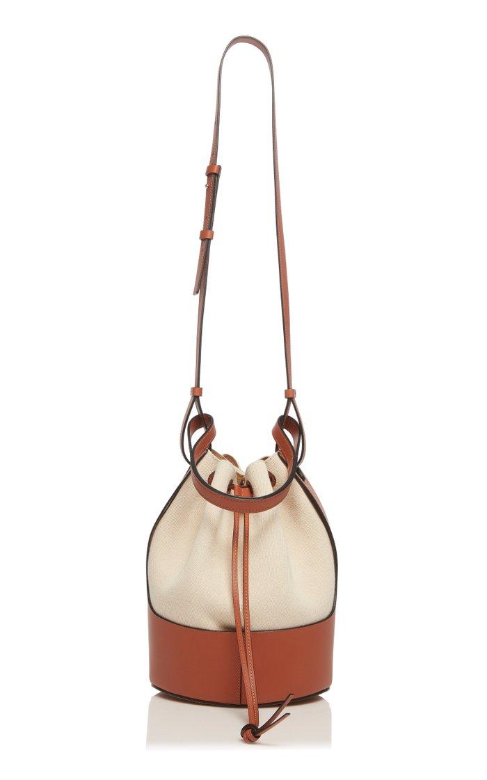 Canvas and Calfskin Balloon Bag