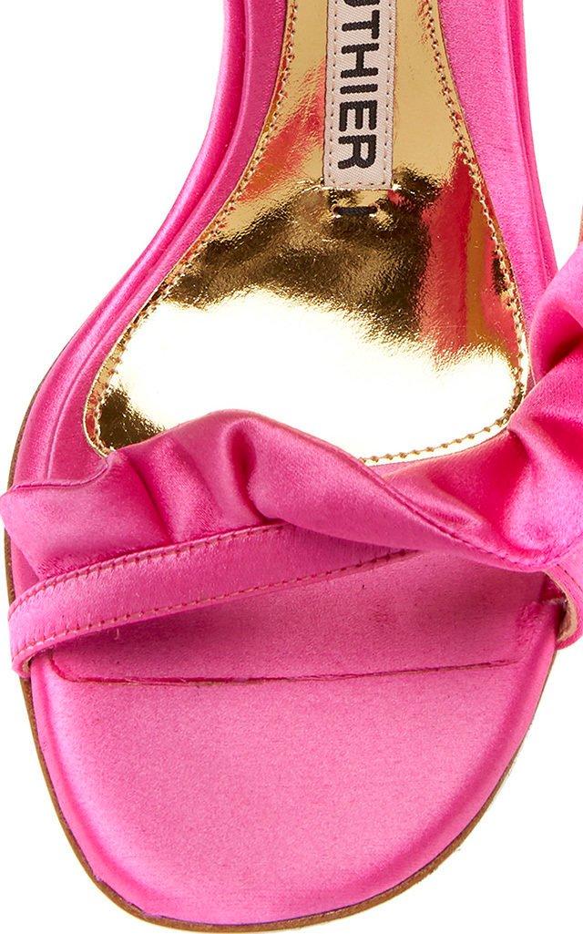Penelope Ruffled Satin Sandals