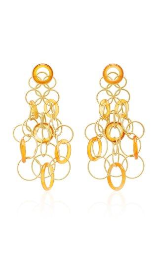 Hawaii 18K Gold And Carnelian Earrings