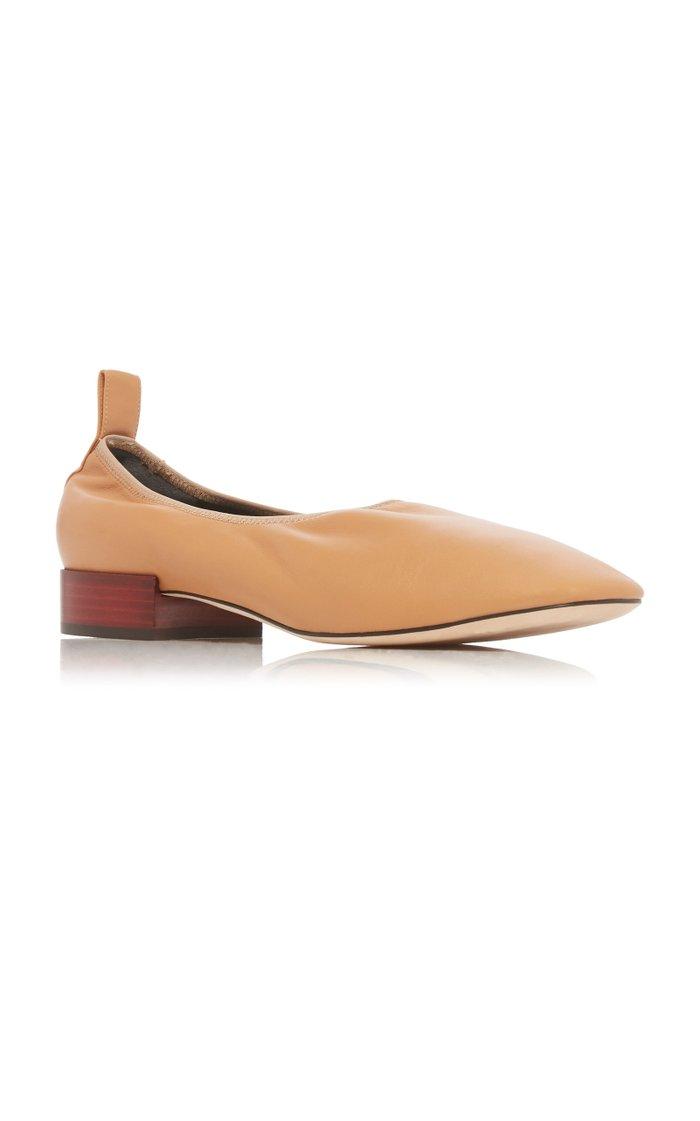 Soft Leather Ballerina Flats