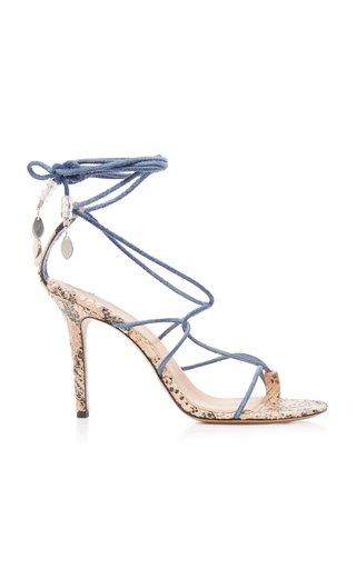Askee Velvet Strappy Sandals