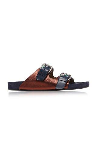 Lenska Metallic Leather Sandals
