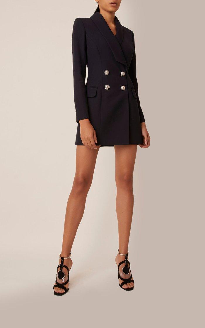Double-Breasted Mini Blazer Dress
