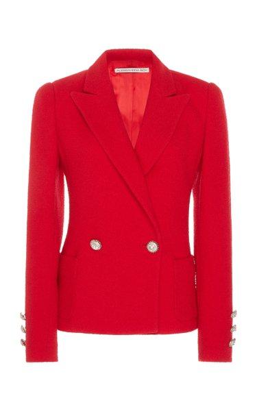 Embellished Wool-Blend Tweed Jacket