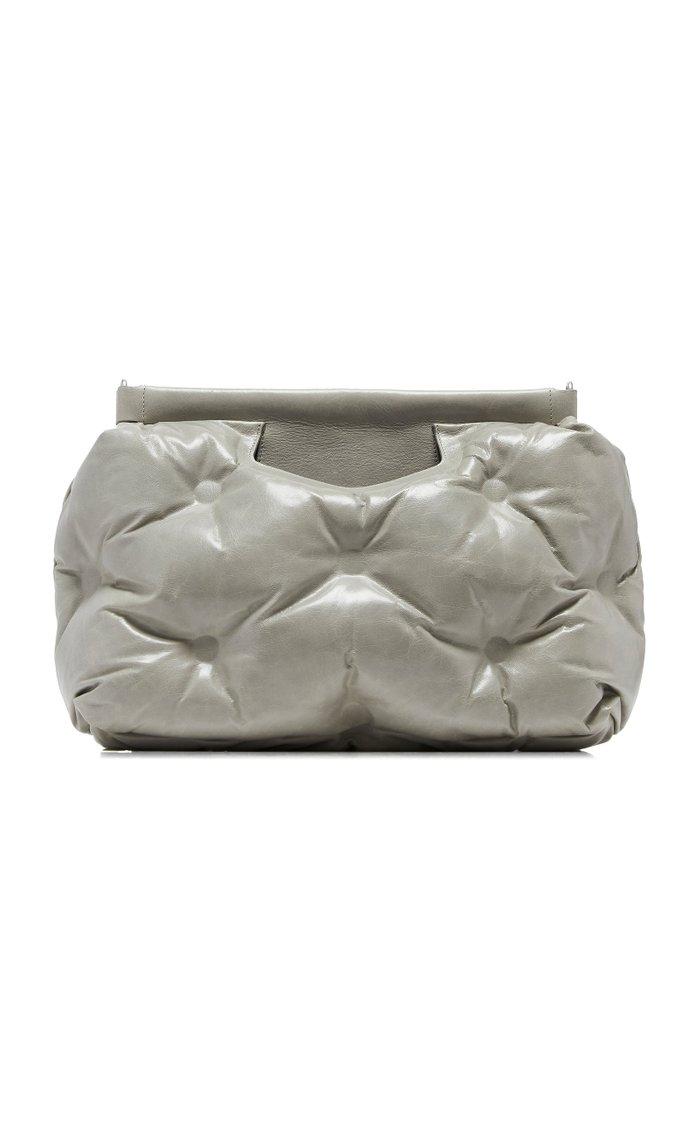 Tufted Faux Leather Clutch