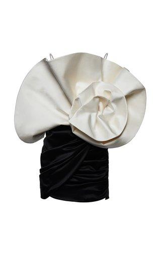 Belgrade Draped Silk-Wool Mini Dress