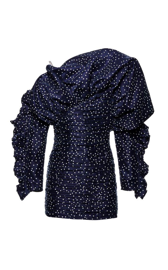 Trani Polka-Dot Taffeta Dress