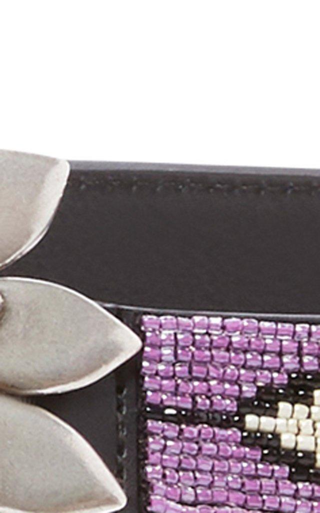 Relsa Beaded Leather Belt