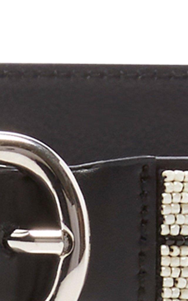 Elsa Beaded Leather Belt