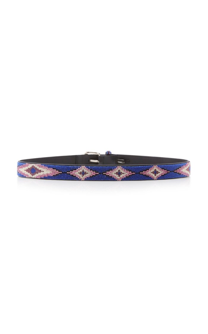Elsa Beaded Leather Belt