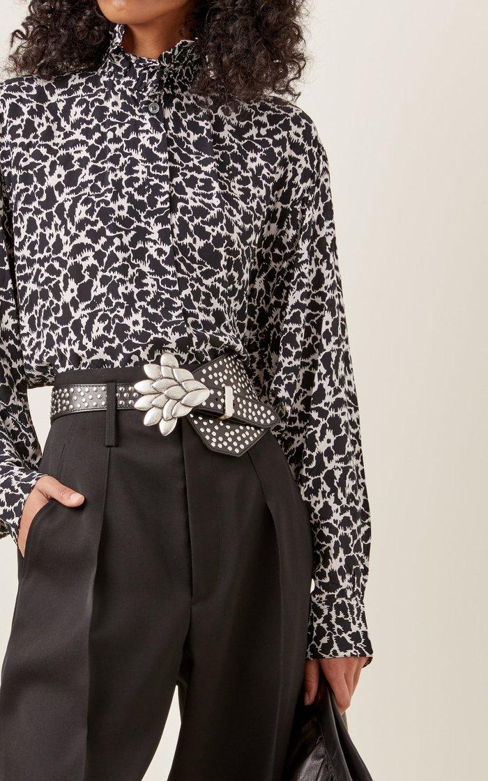 Lowai Studded Leather Belt