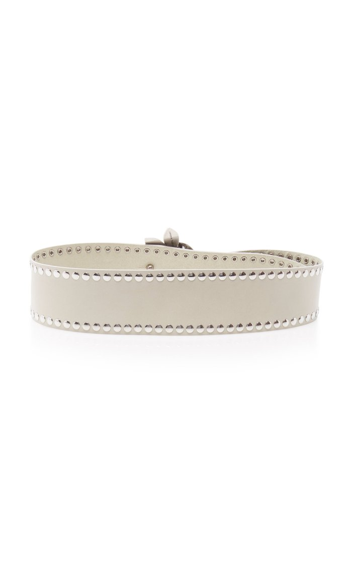 Lowi Studded Leather Belt
