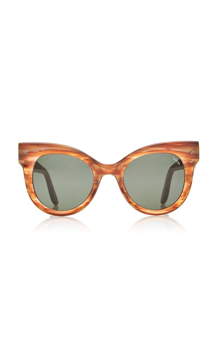 Ana Oversized Cat-Eye Acetate Sunglasses