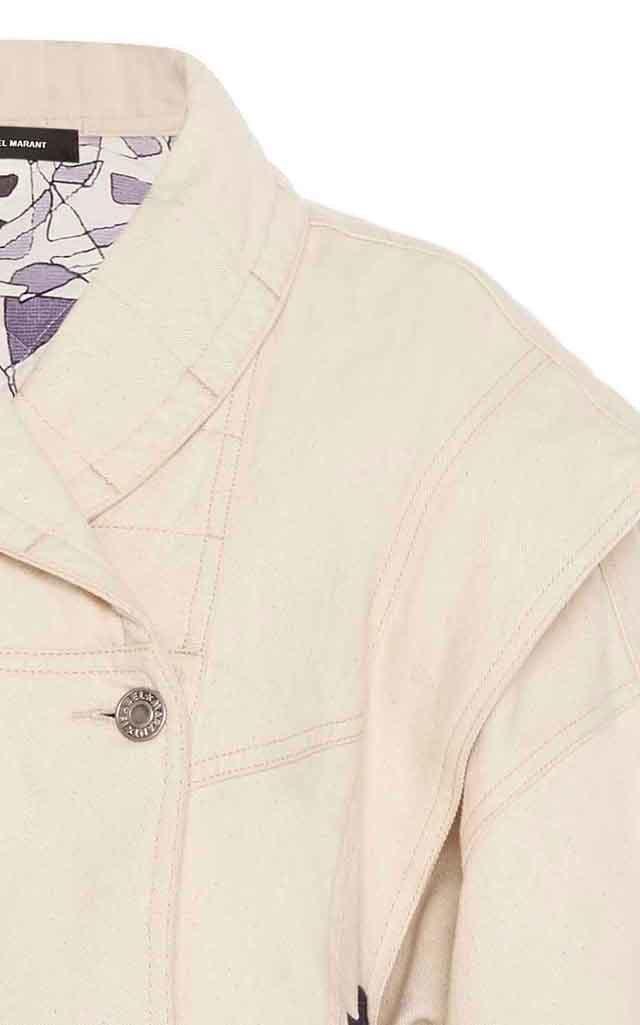 Erial Jacquard-Knit Cotton-Twill Jacket