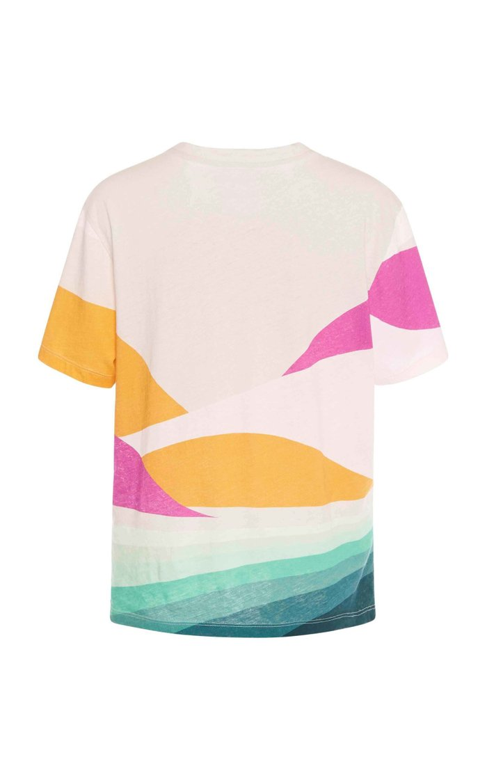 Zewel Printed Cotton-Jersey T-Shirt
