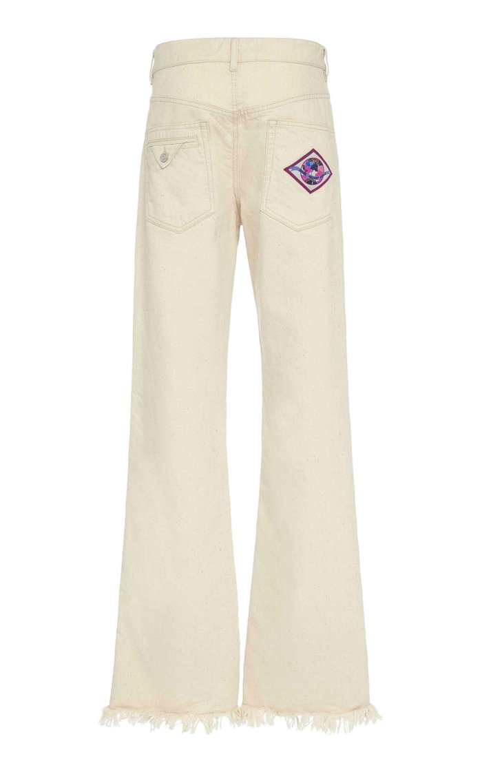 Elvira Frayed Wide-Leg Jeans