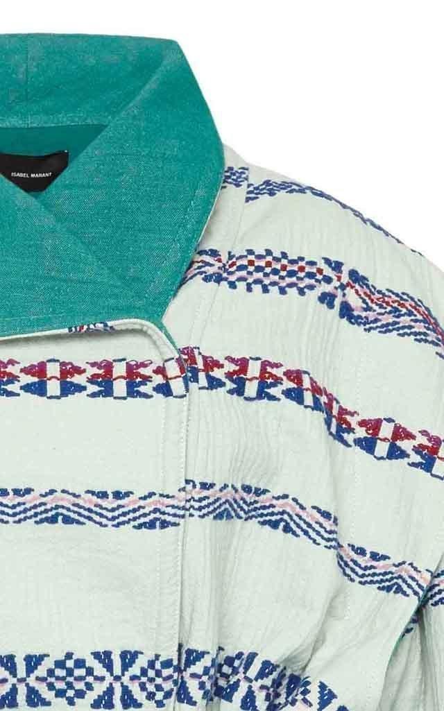 Belia Belted Printed Cotton-Blend Coat