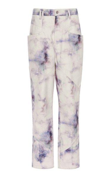 Eloisa Tie-Dye Cotton Straight-Leg Pants