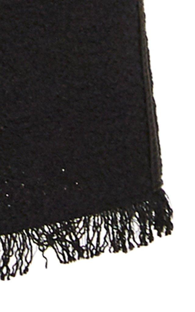 Kyra Frayed Cotton-Blend Straight-Leg Pants