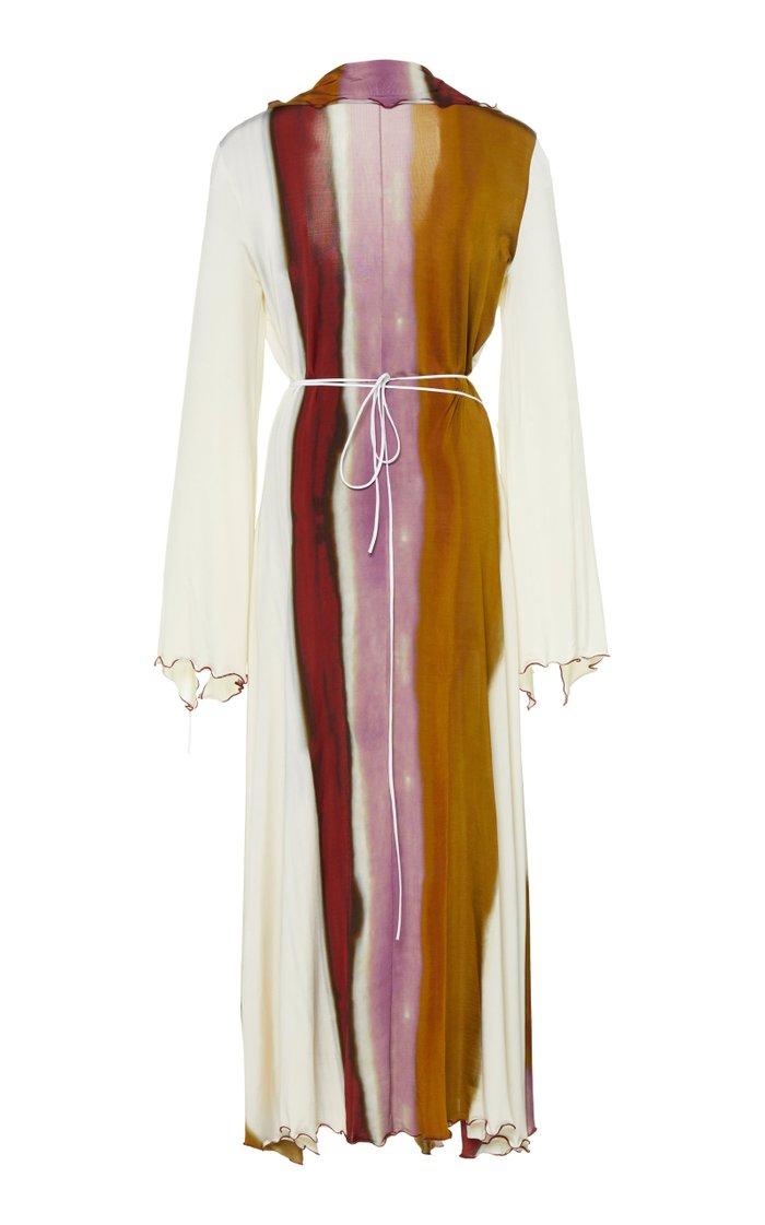 Epicurus Printed Stretch-Jersey Wrap Dress
