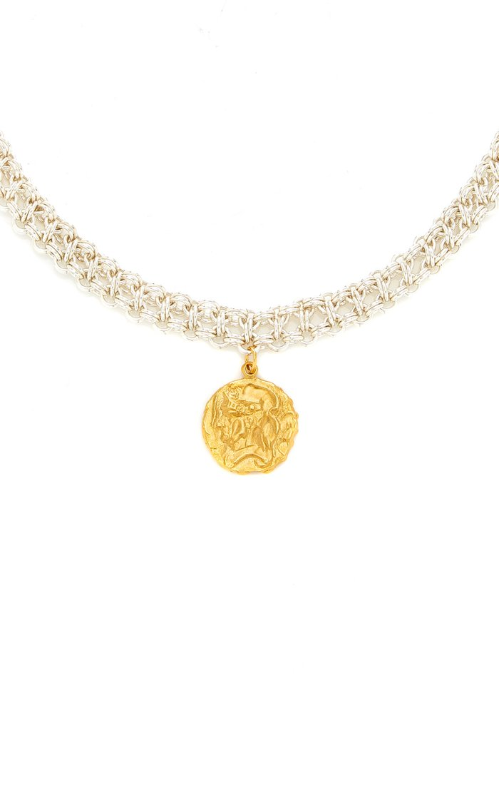 The Woven Tapestry Amulet 24K Gold-Plated Bronze Necklace