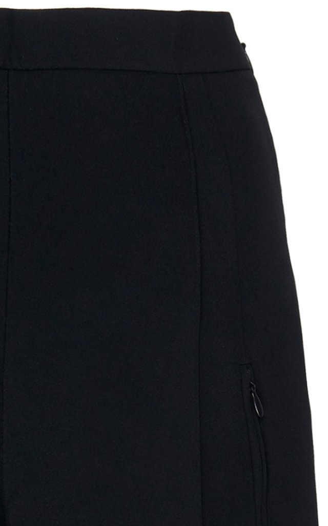 High-Rise Crepe Tapered Pants