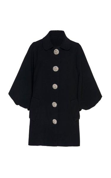 Puffed Sleeve Crepe Jacket