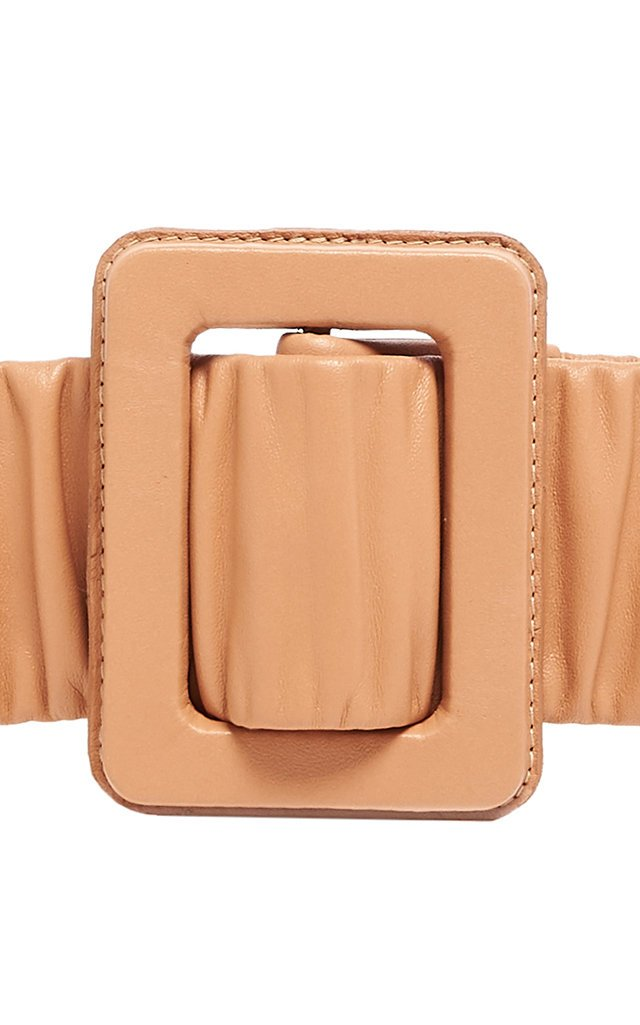 Spiritize Ruched Leather Belt