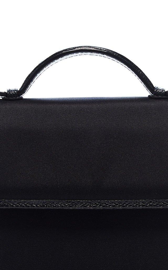 The Small Top Handle Satin and Lizard Bag