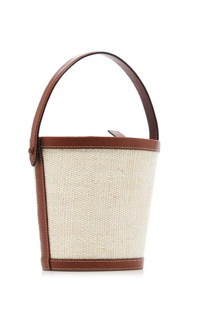 Two-Tone Nappa Leather Bucket Bag