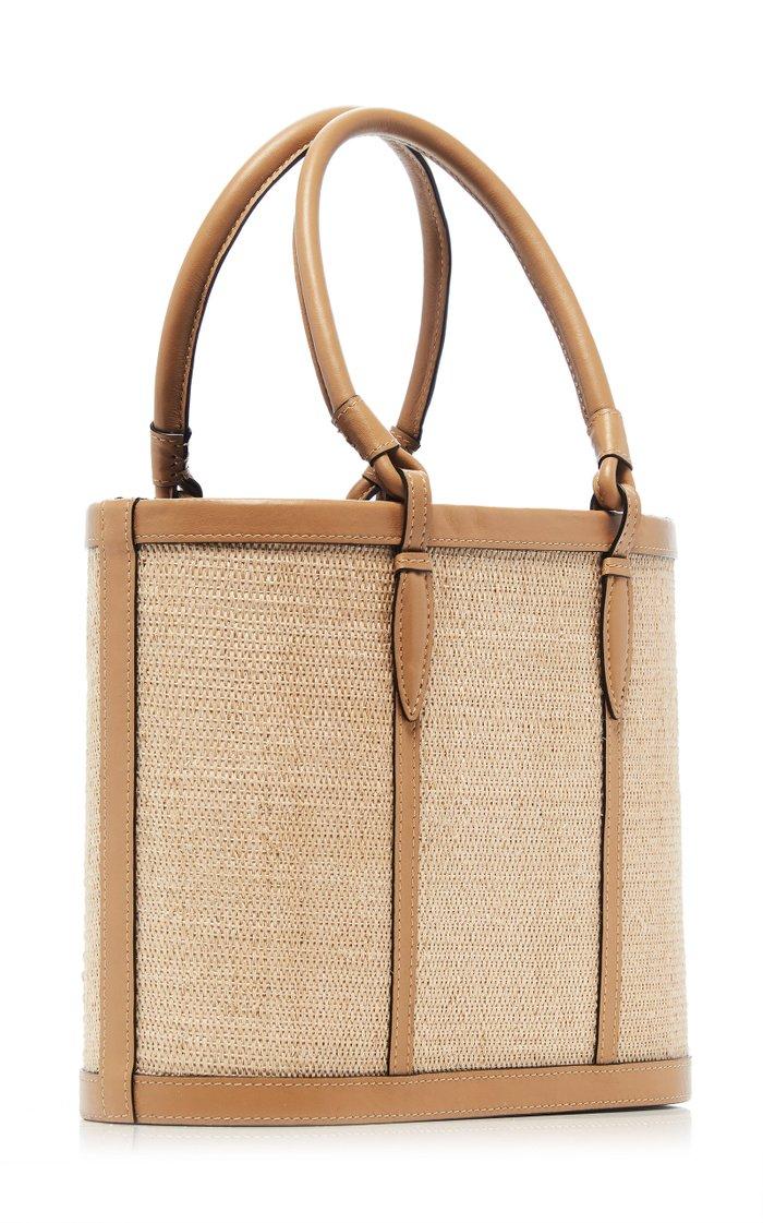 Two-Tone Nappa Leather Basket Tote