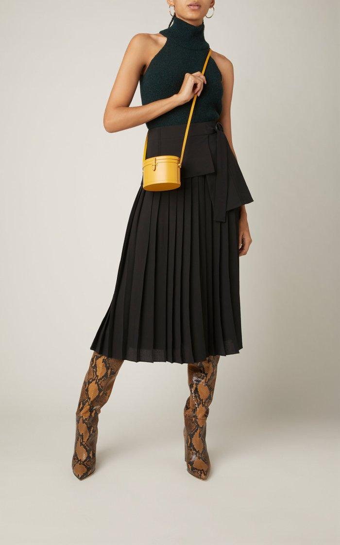 Trunk Leather Crossbody Bag