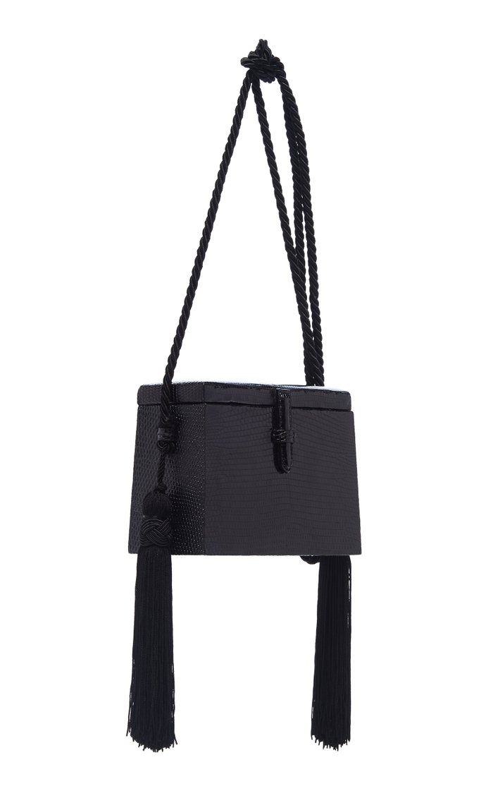 Mini Square Lizard Trunk Crossbody Bag