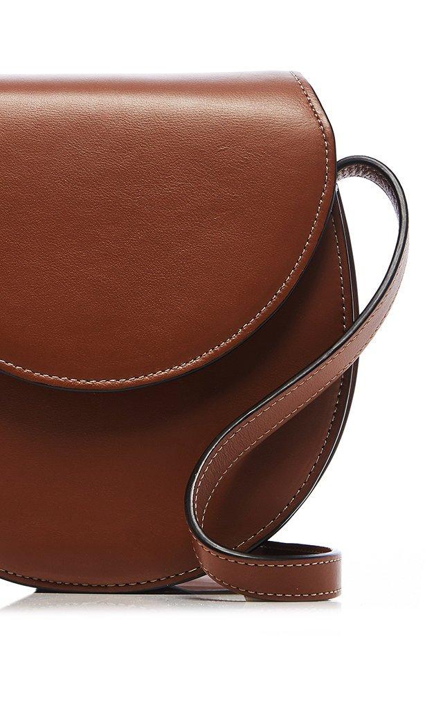 Nappa Leather Saddle Crossbody Bag