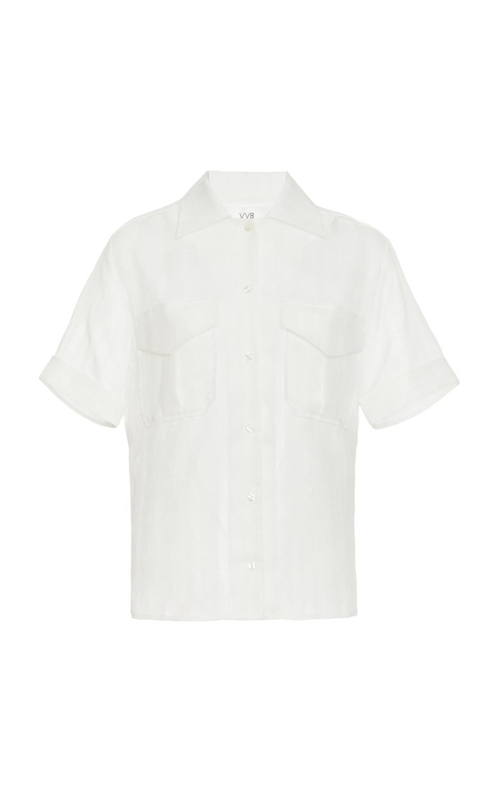 Gauze Button-Down Shirt