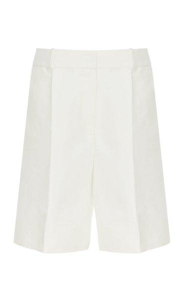 Wide-Leg Cotton-Nylon Shorts