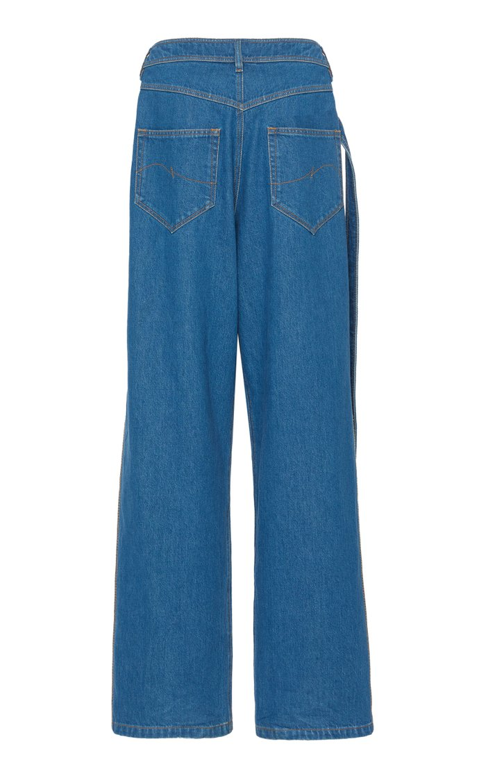 Crossover Rigid High-Rise Wide-Leg Jeans