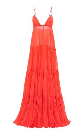 Tiered V-Neck Maxi Dress