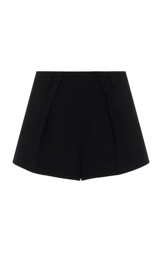 High-Rise Crepe Mini Short