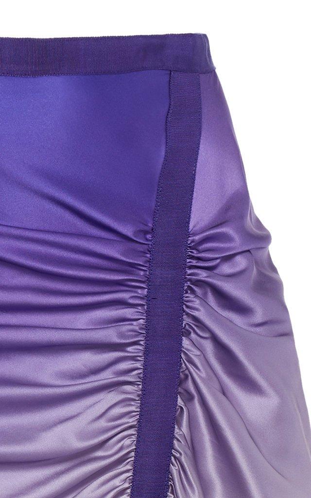 Asymmetric Ombré Silk Skirt