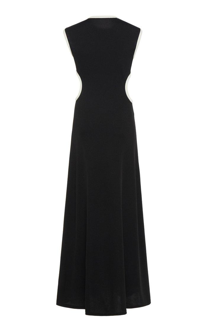 Fran Cutout Ribbed-Knit Dress