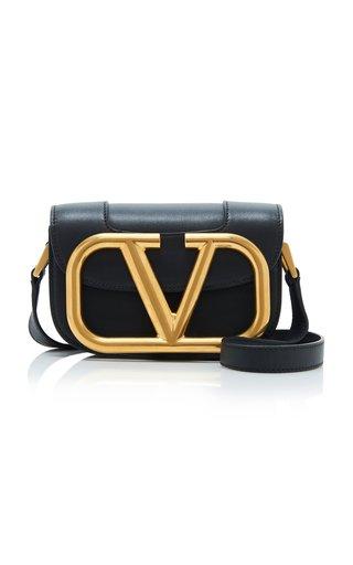 Valentino Garavani Supervee Small Leather and Brass Shoulder Bag