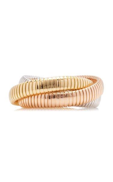 18K White, Yellow And Rose Gold Bracelet