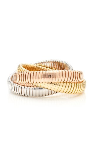 18K White, Yellow And Rose Gold Bracelet