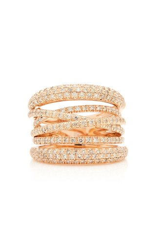 Scribble 18K Rose Gold And Diamond Ring