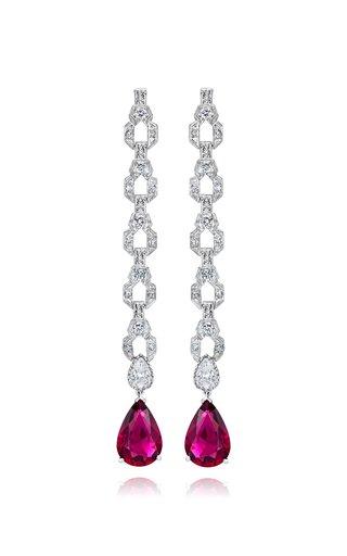 Exclusive Platinum, Diamond and Rubellite Earrings