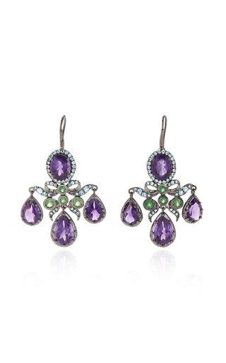 Medora Girandole 14K White Gold And Multi-Stone Earrings