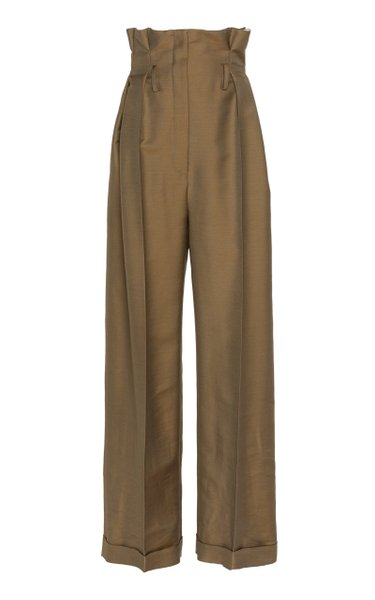 Perrie High-Waisted Wool-Blend Twill Trousers